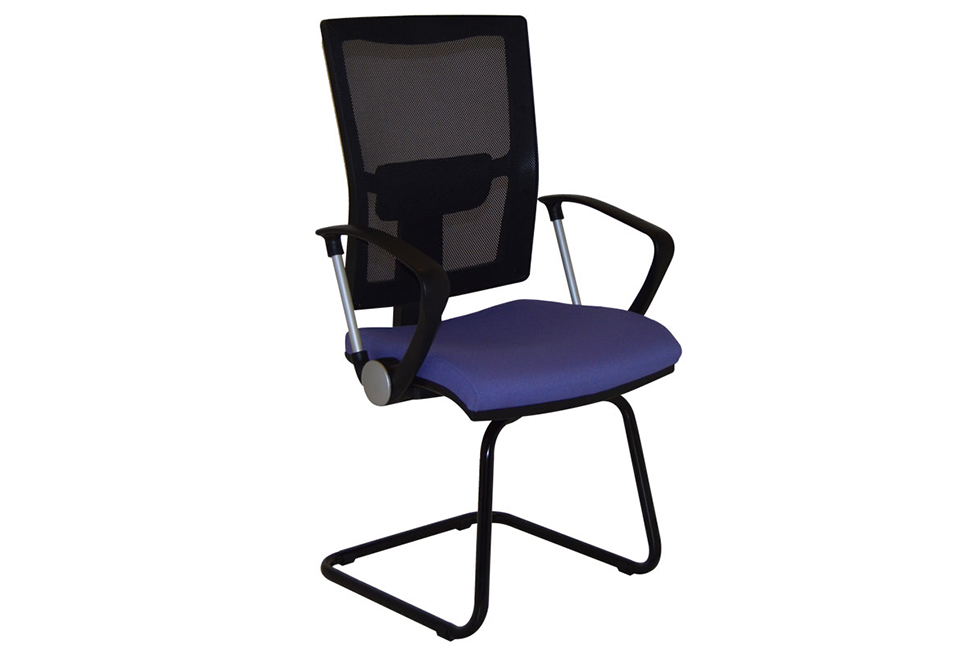 Lunar Black Mesh Chair
